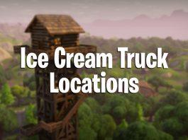fortnite battle royale ice cream truck locations