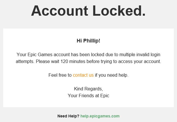 Account locked email epic games fortnite