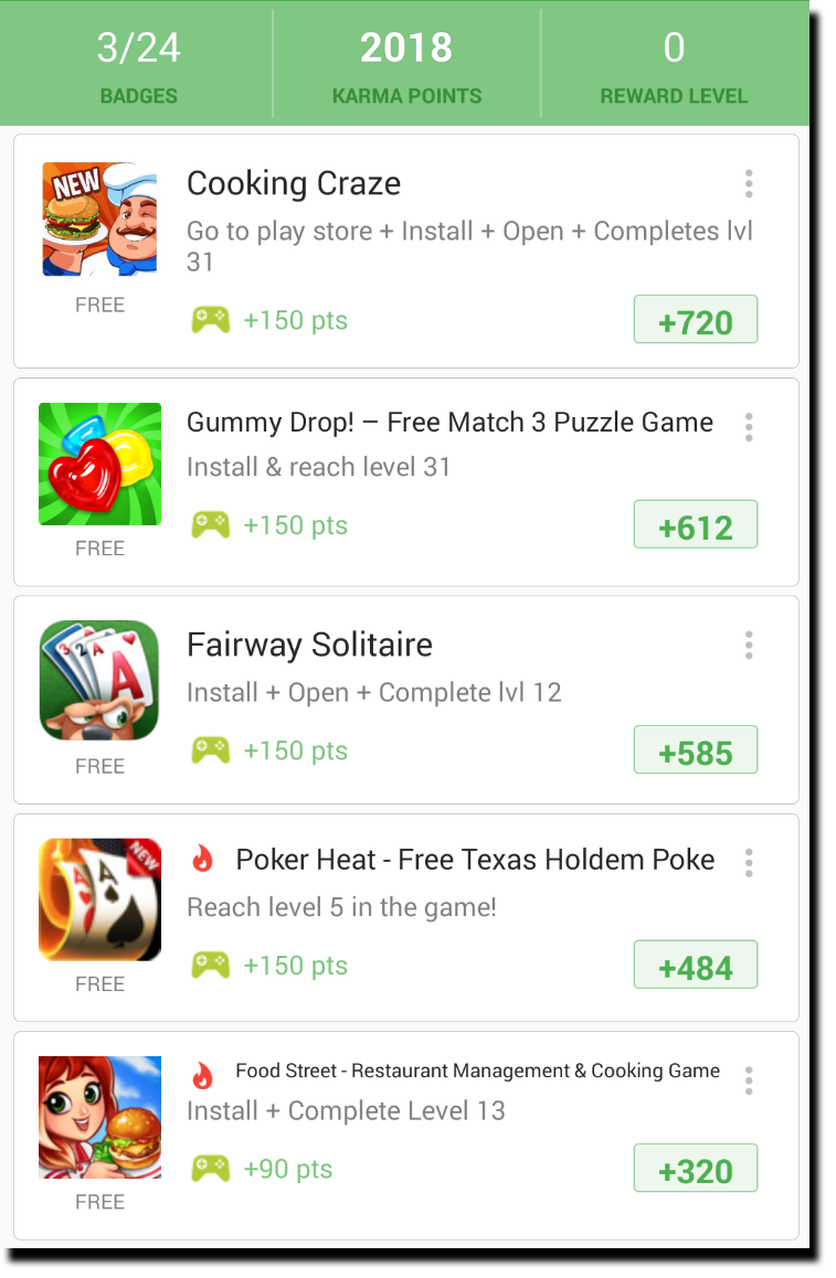 appkarma get paid to play mobile games in 2018 list of offers and games