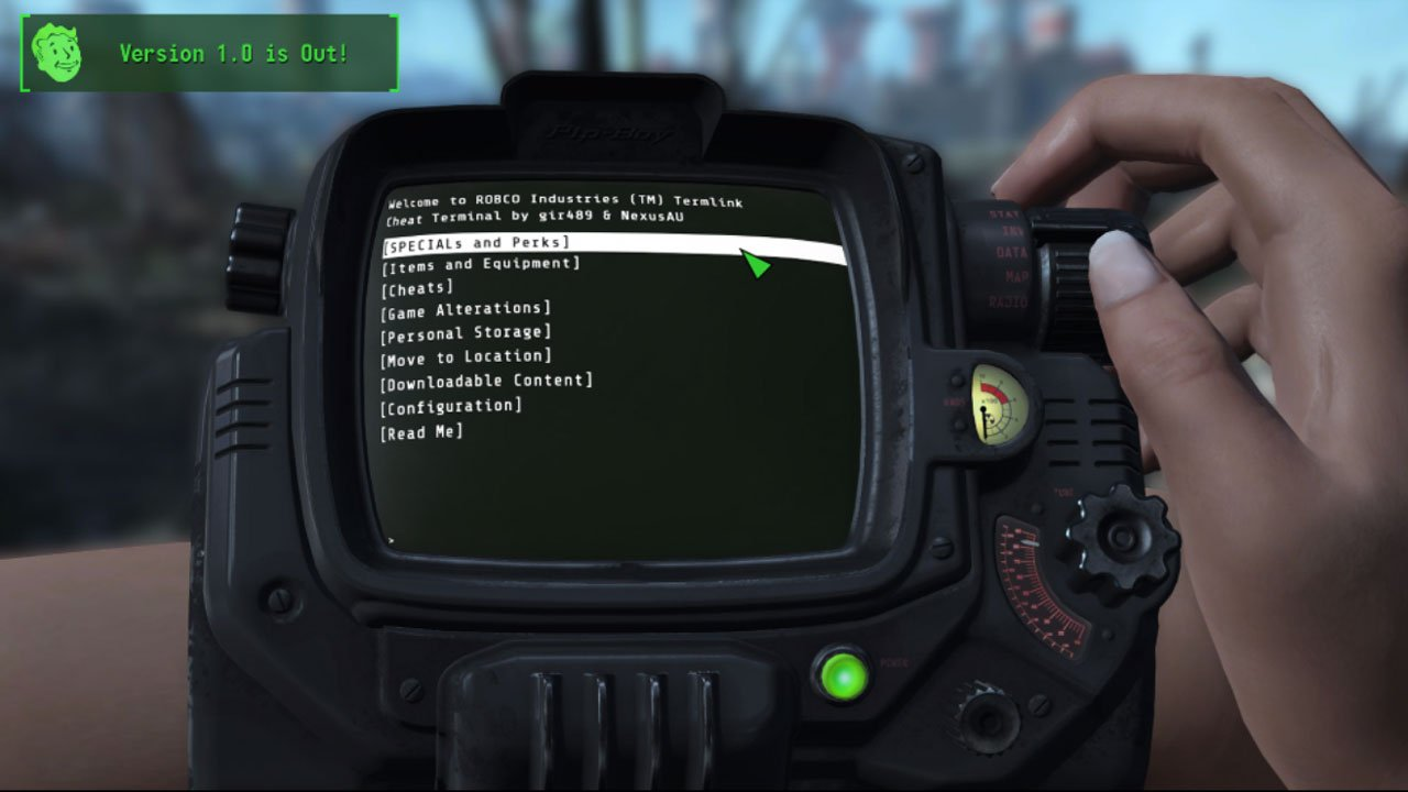 fallout 4 best mods for xbox one cheat terminal god mode