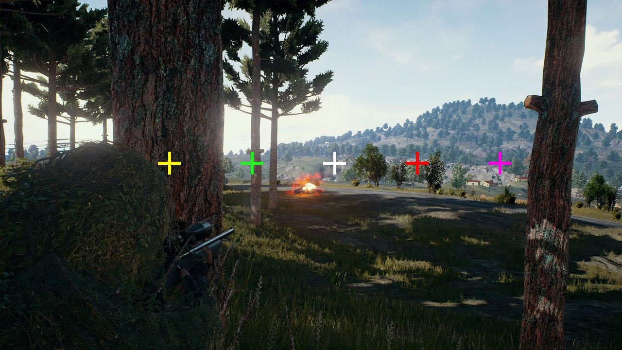 How to change your crosshair color in PUBG - PwrDown