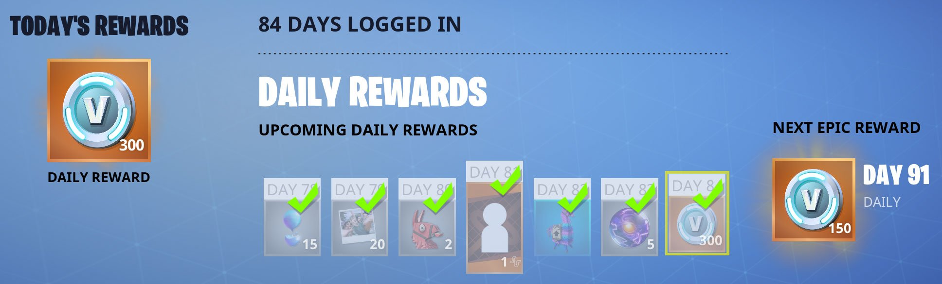 Earn VBucks with daily login rewards in Save The World