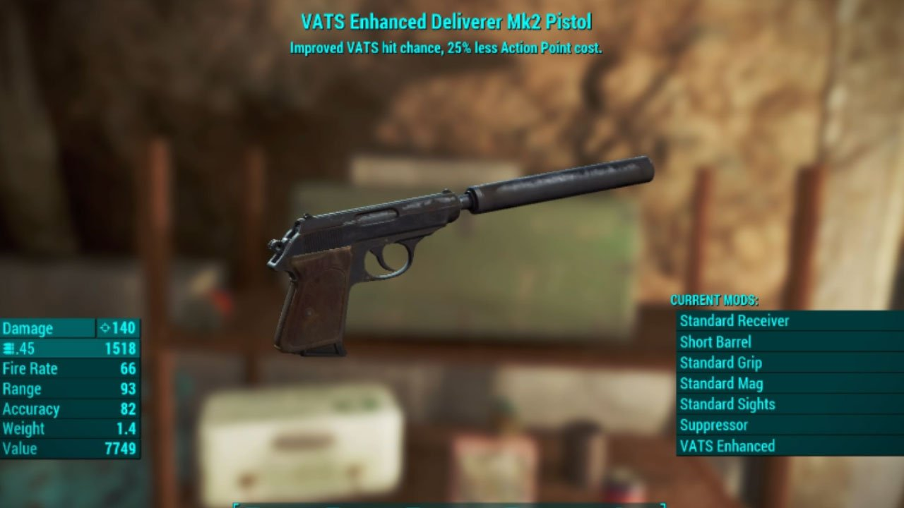 fallout 4 best weapons mod for ps4 deliverer mark 2
