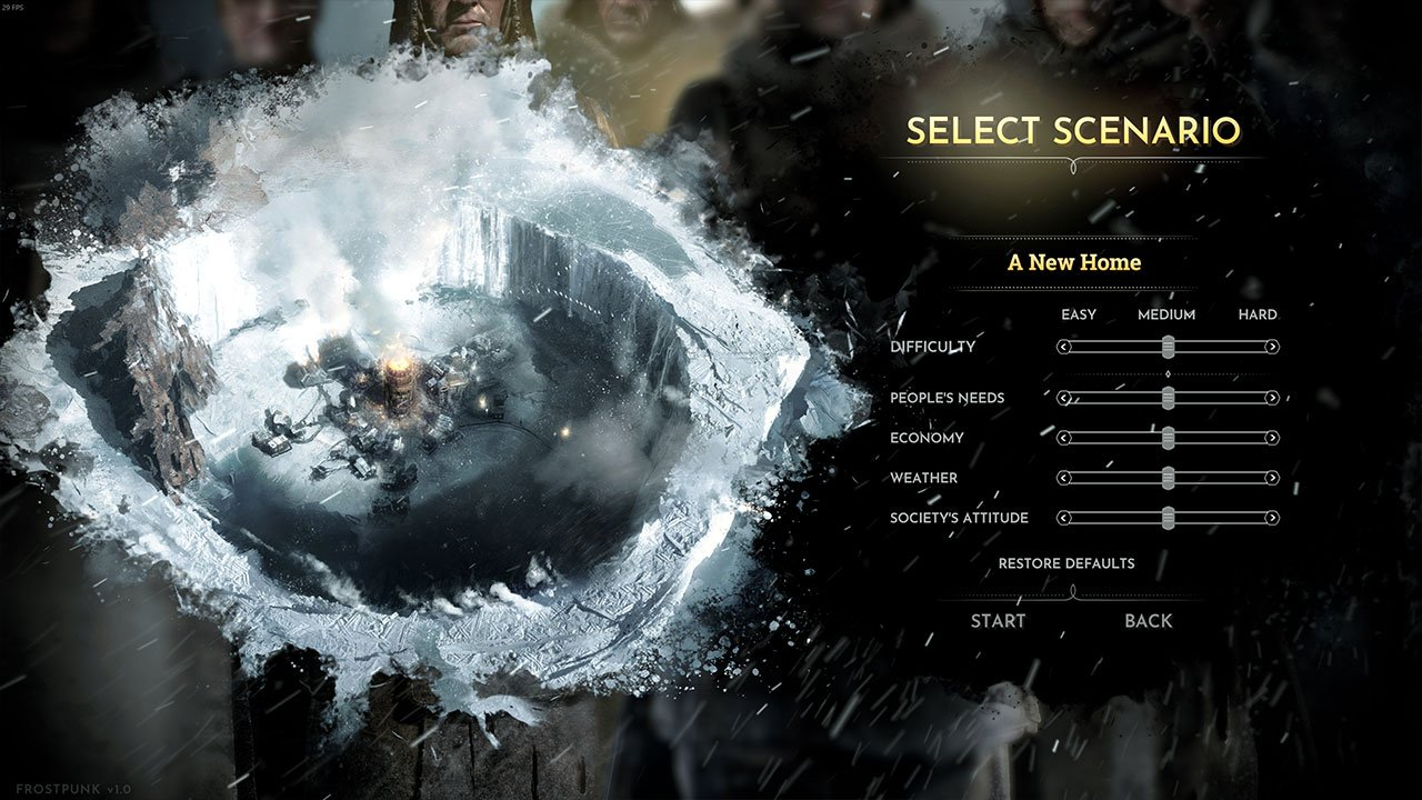 Frostpunk 2018 Game Wallpapers: Frostpunk: How To Change The Difficulty Setting
