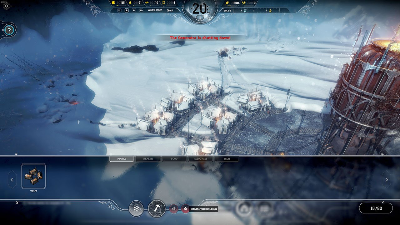 how to dismantle buildings and streets frostpunk
