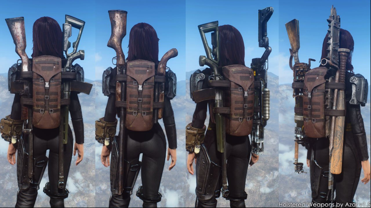 holstered mod fallout 4