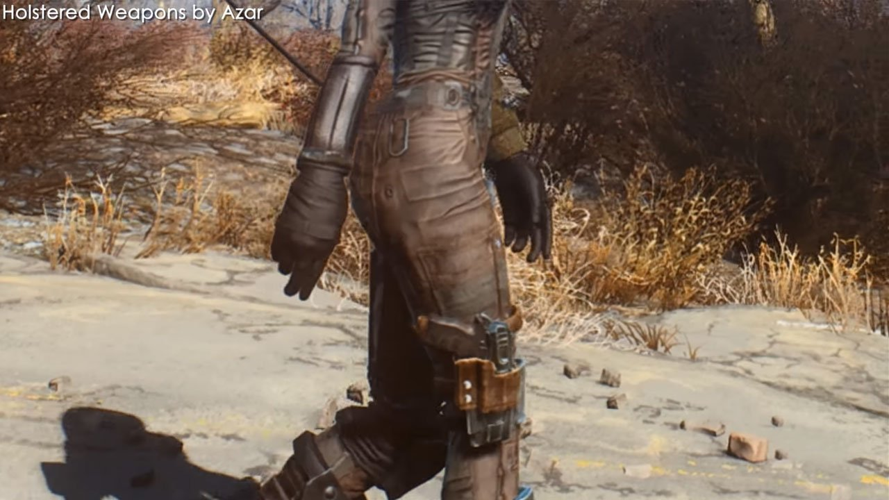 fallout 4 best armor mods xbox one holstered weapons