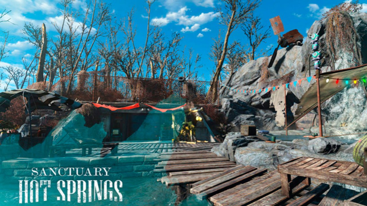 fallout 4 settlement and building mods for ps4 sanctuary hot springs