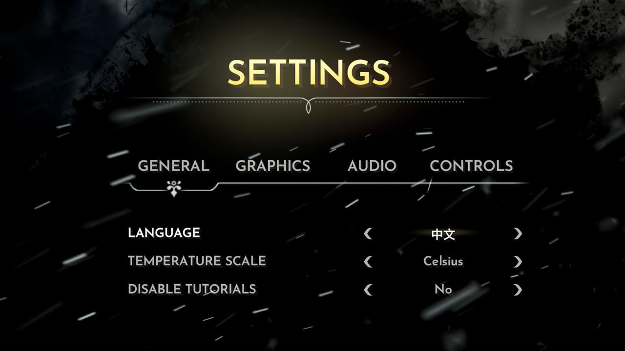 choose your language from the settings in frostpunk
