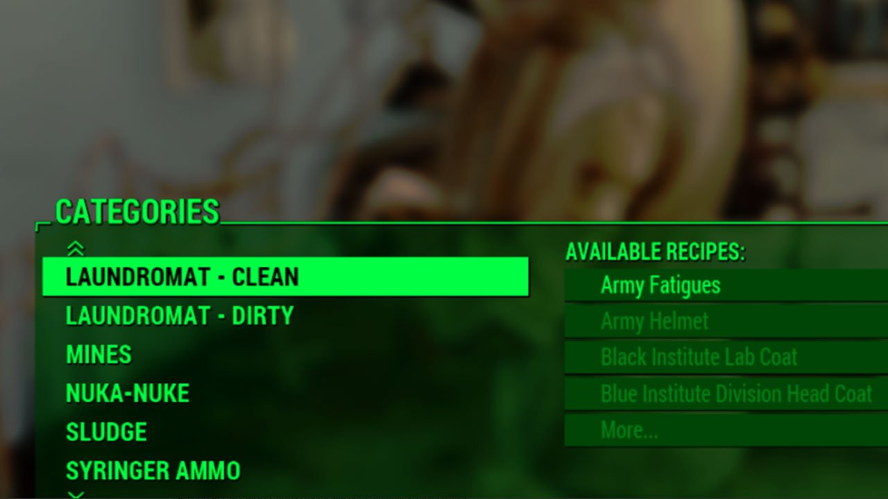 fallout 4 best armor mods for ps4 laundromat