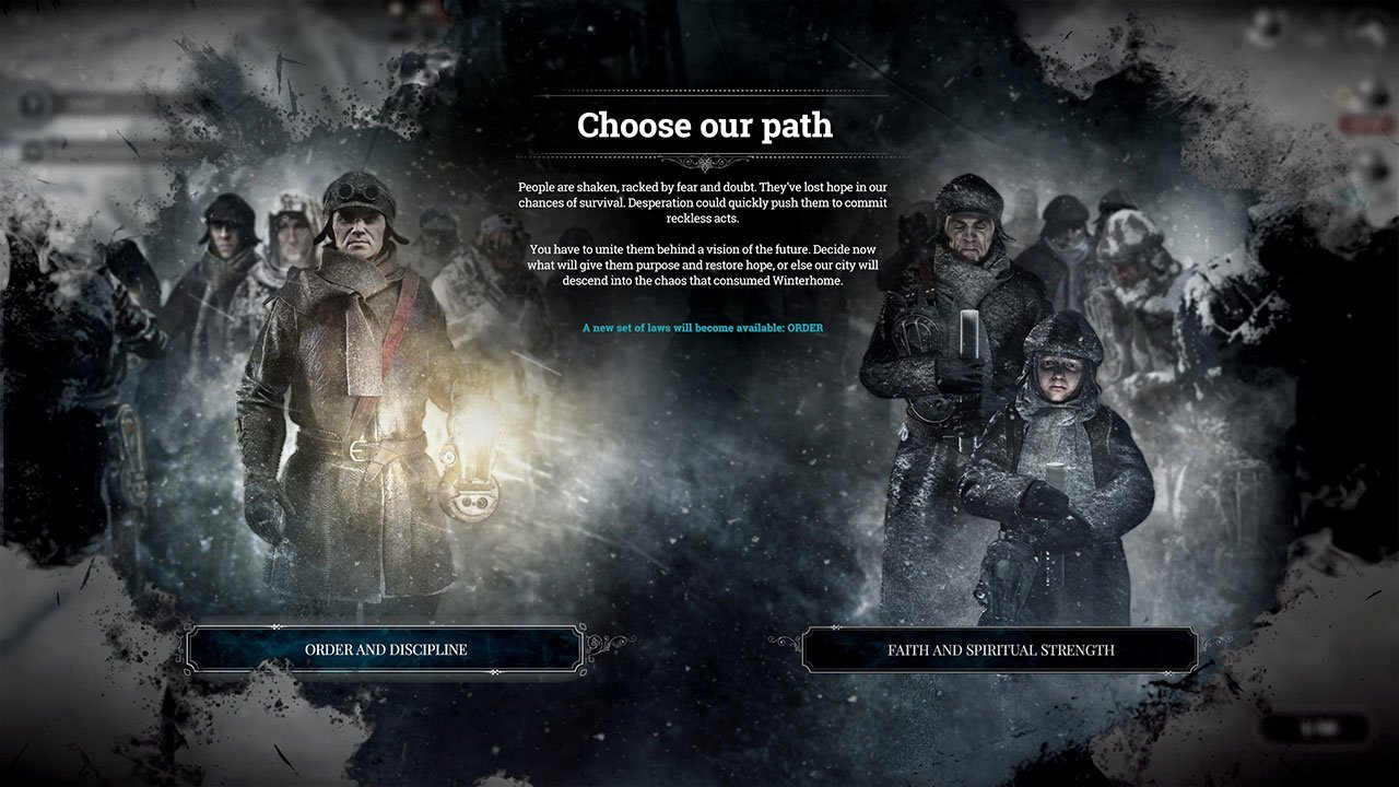 Frostpunk 2018 Game Wallpapers: Frostpunk: Choose Order Or Faith In The Book Of Laws