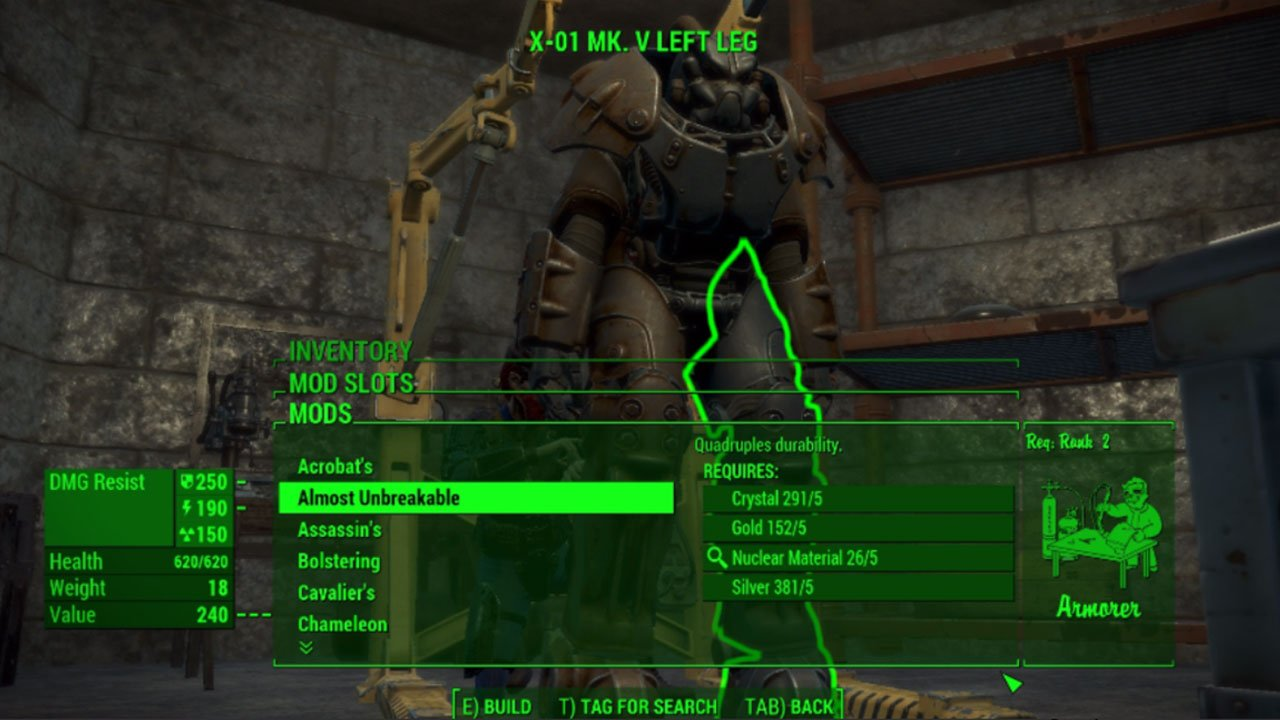 fallout 4 best armor mods for ps4 legendary modification