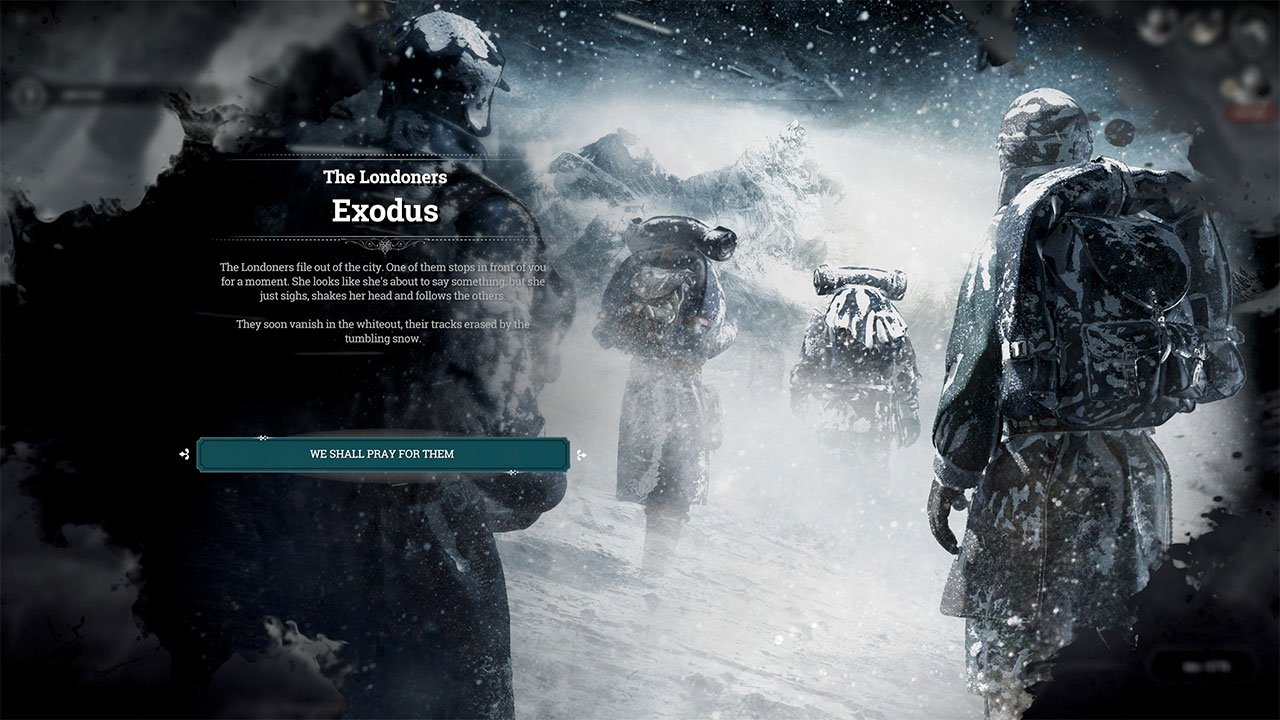 beating the londoners in frostpunk