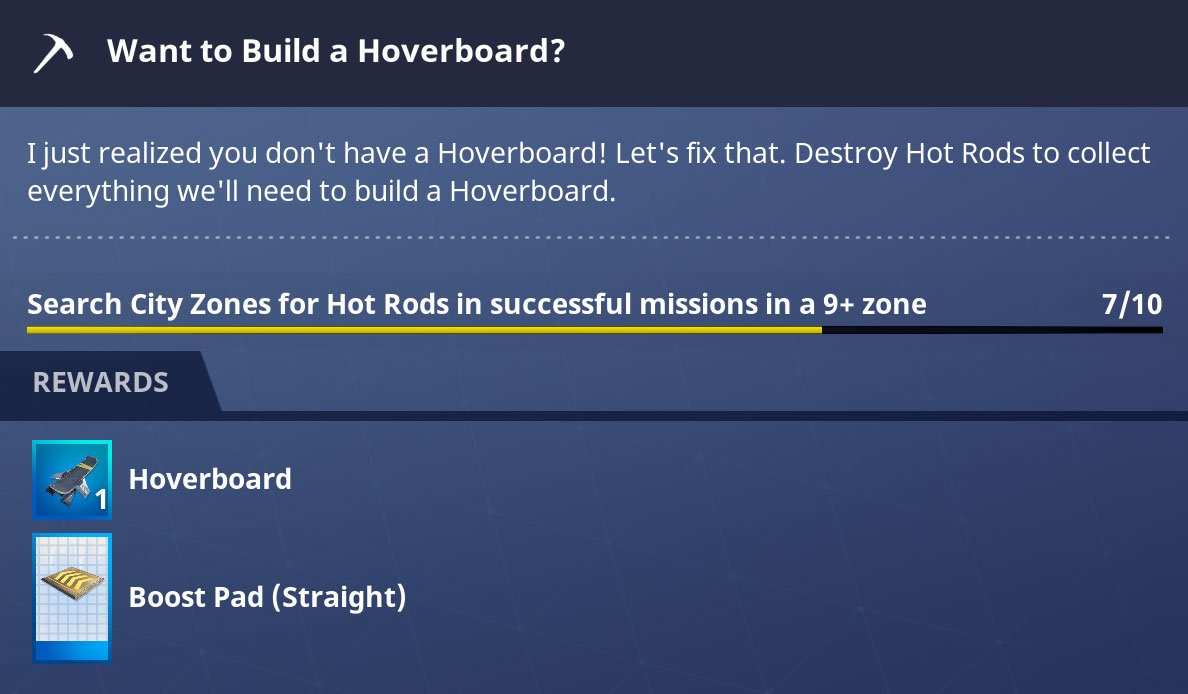 fortnite hoverboard quest