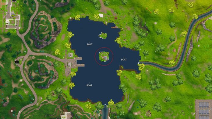 Fortnite Battle Royale search between 3 boats challenge