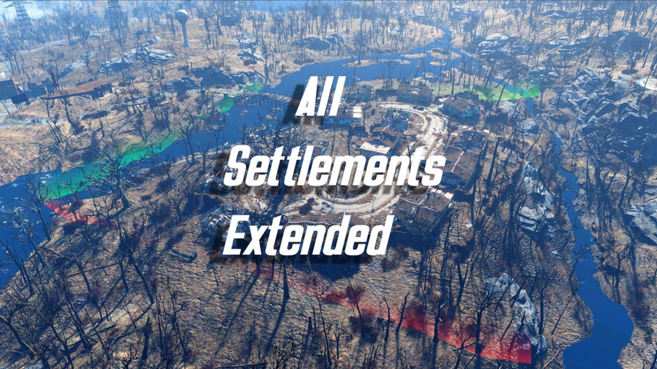 fallout 4 settlement and building mods for ps4 all settlements extended