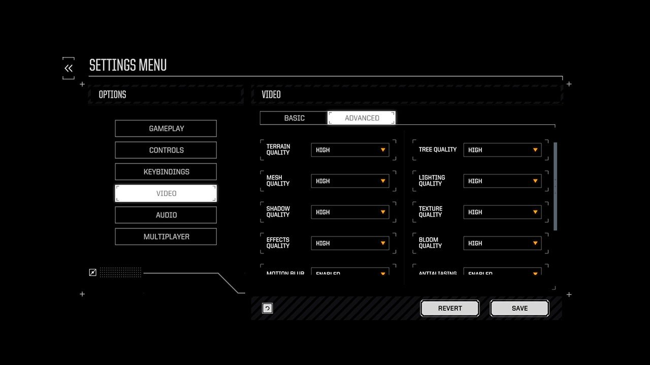 battletech advanced settings