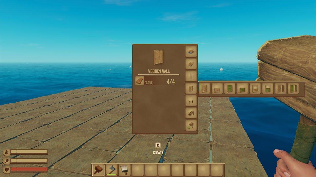 building menu raft create foundations to make raft bigger