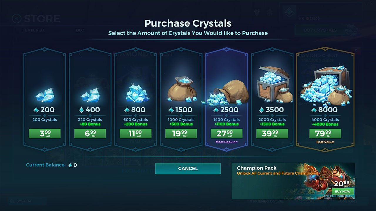 purchase crystals paladins