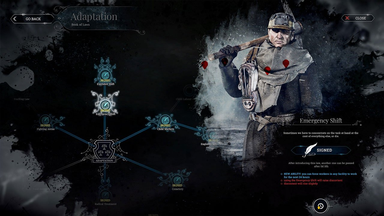 frostpunk emergency shifts to research faster