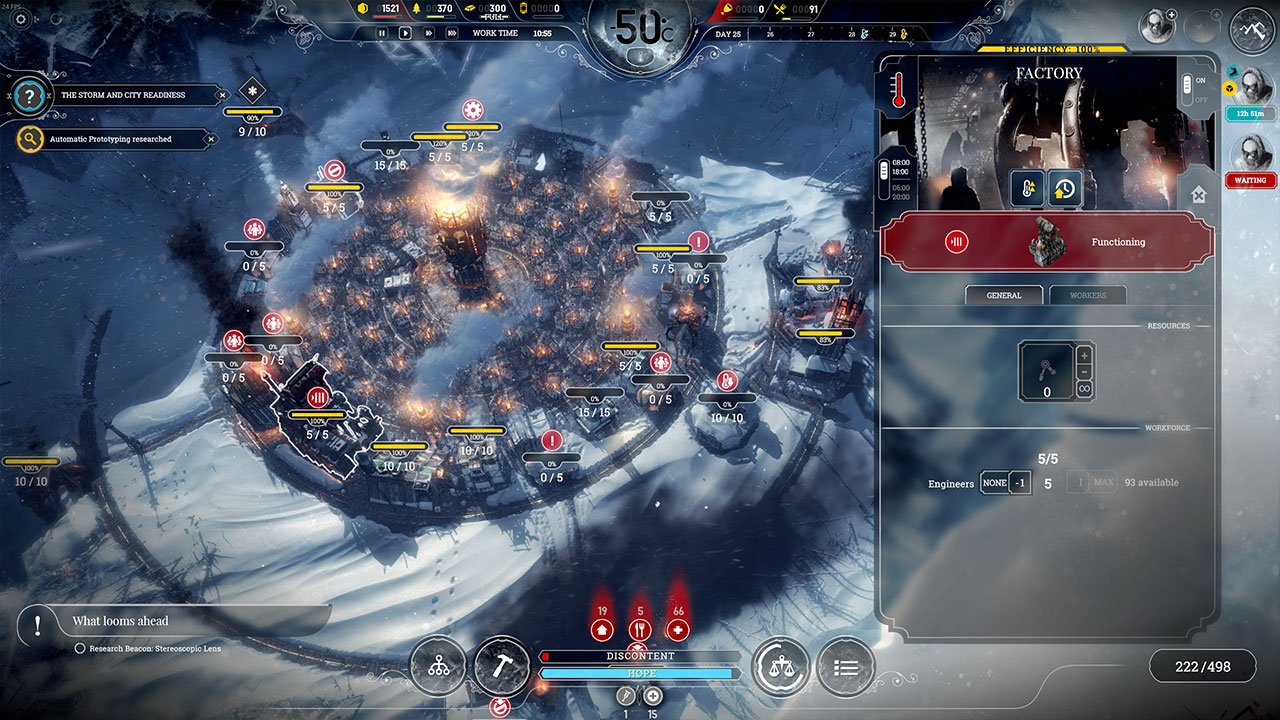 frostpunk how to build factory