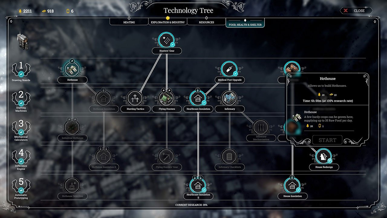frostpunk how to get food research rations