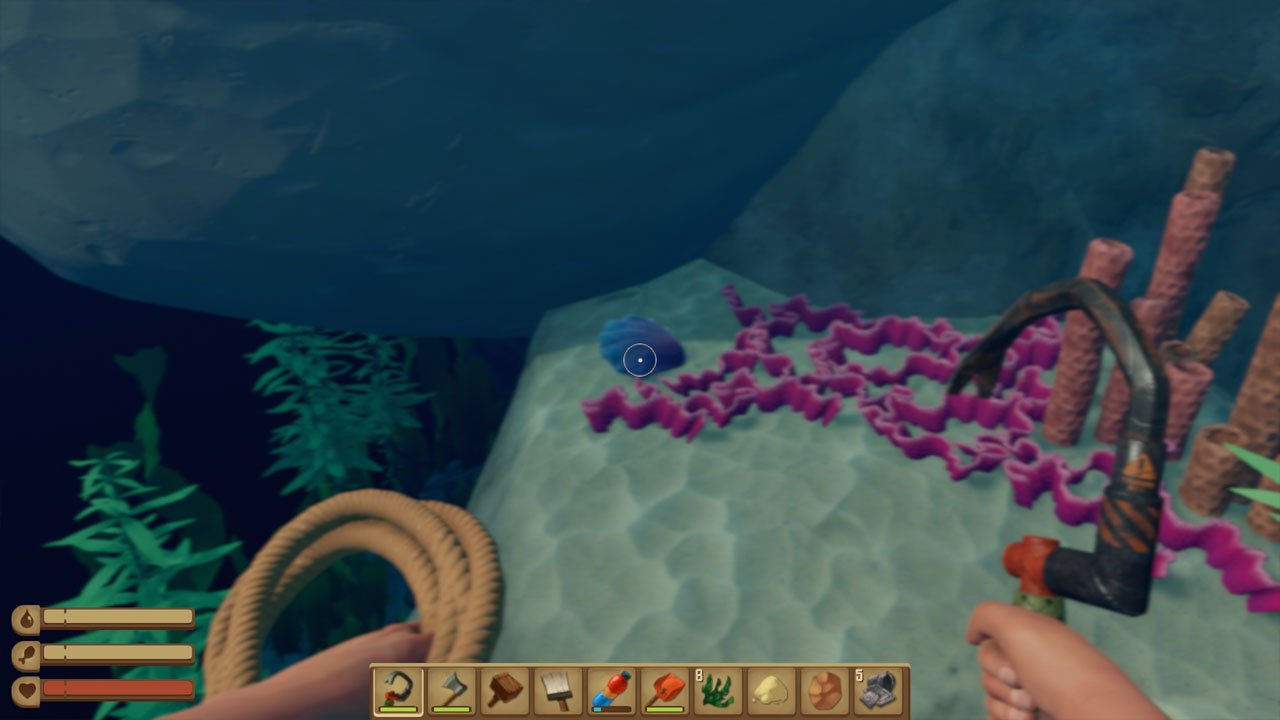 raft how to get giant clams