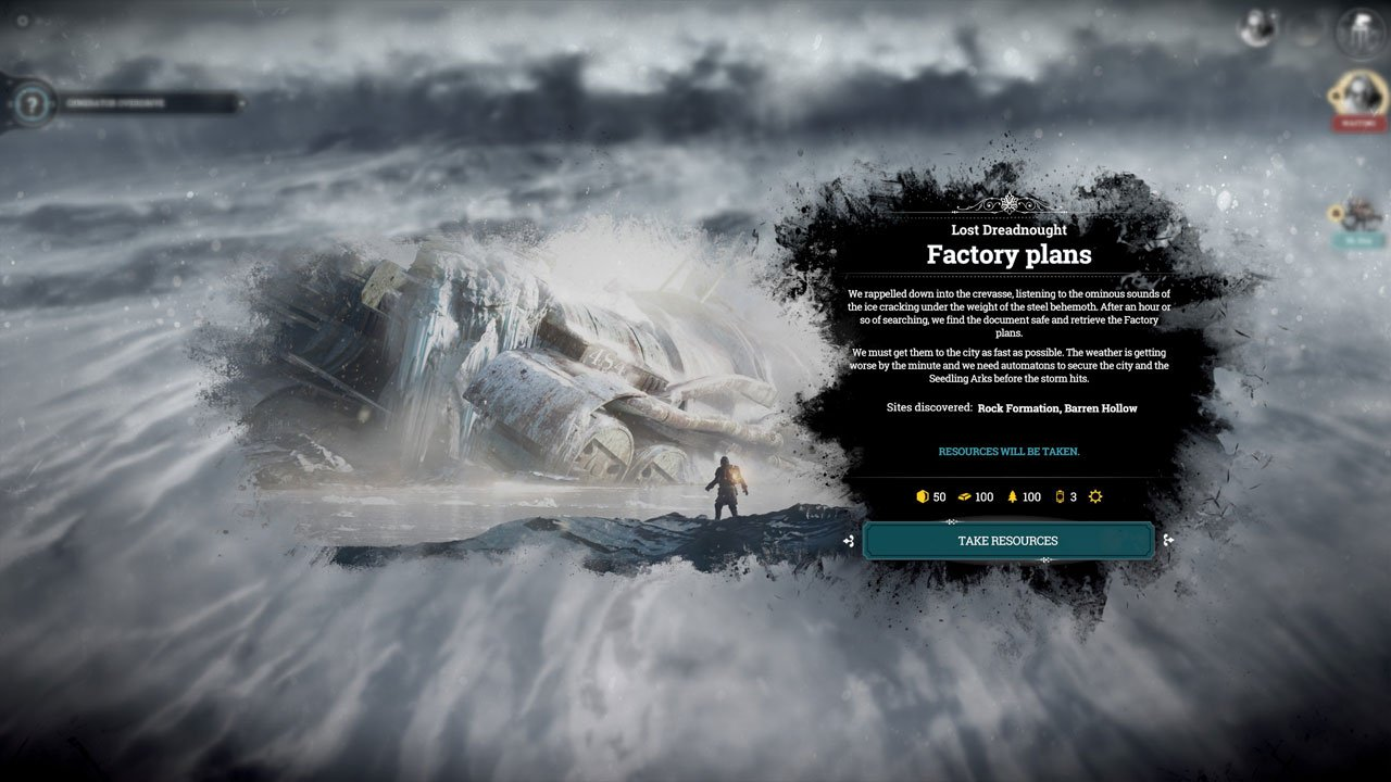 How to find the factory plans in Frostpunk