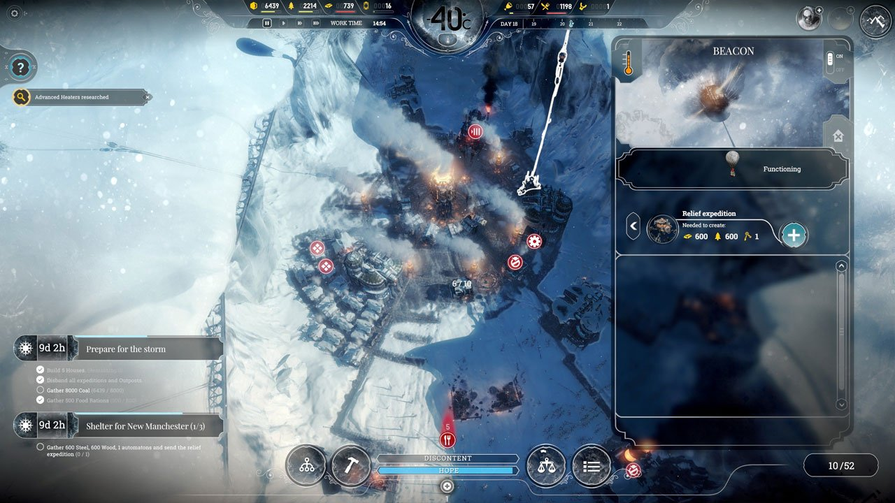 Relief Expeditions frostpunk