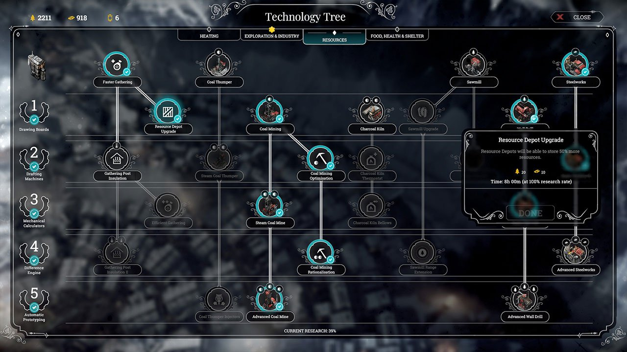 frostpunk how to stockpile coal