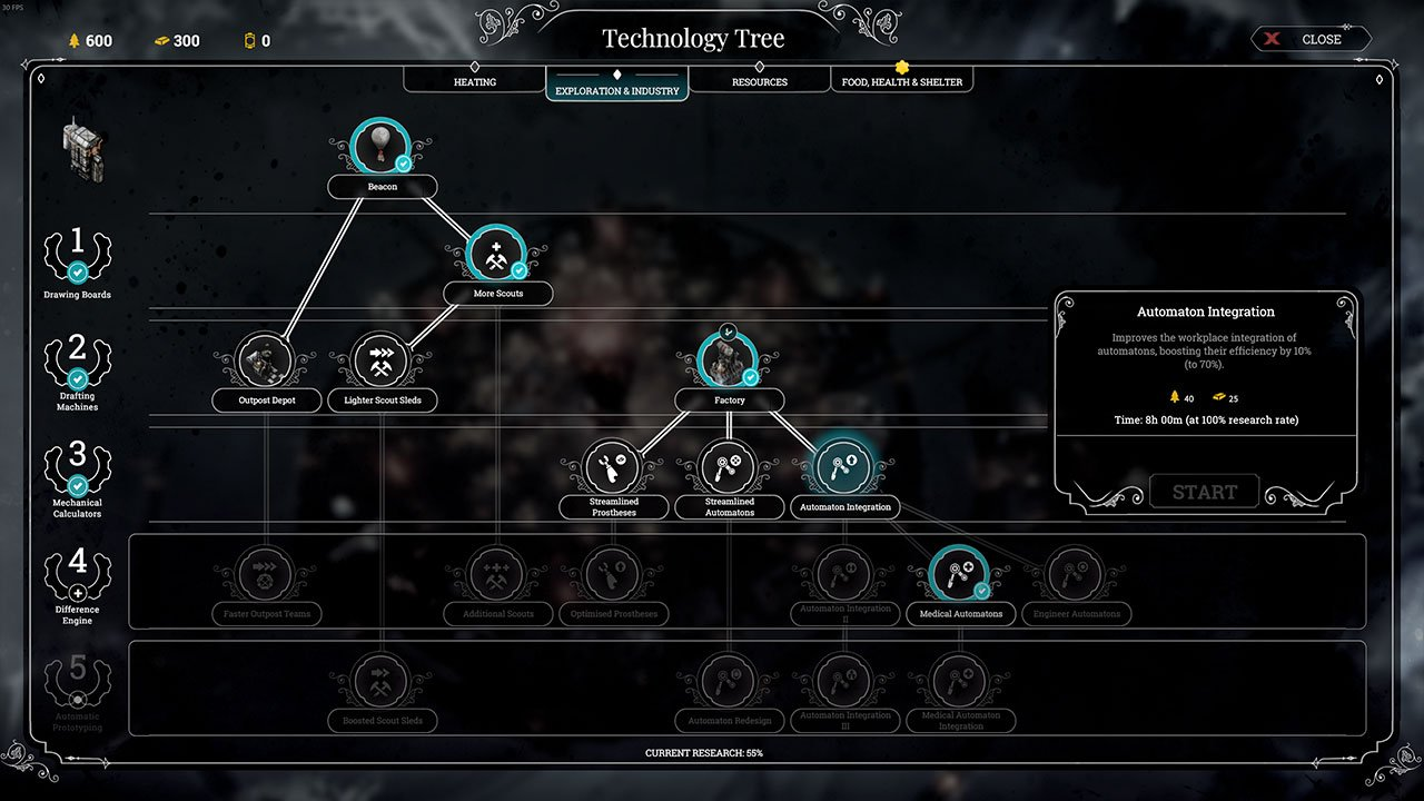 frostpunk research automaton technology