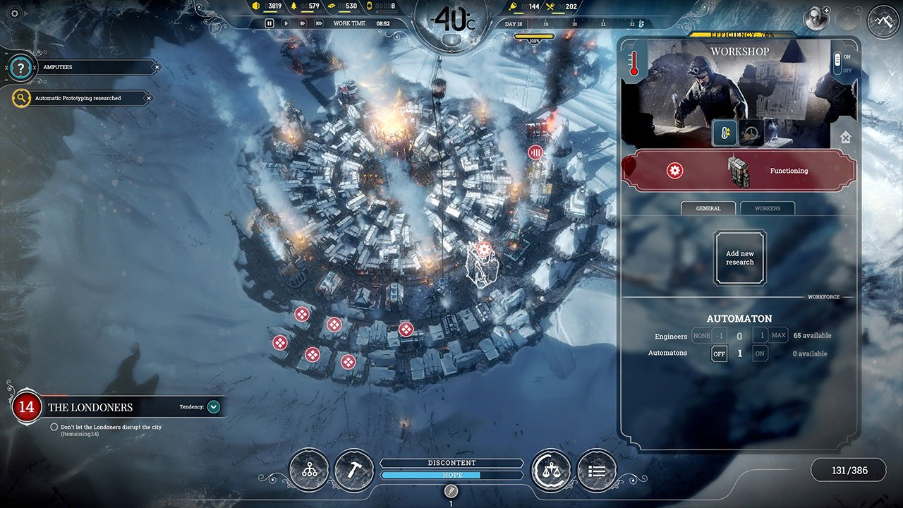 automatons to do research for you in frostpunk