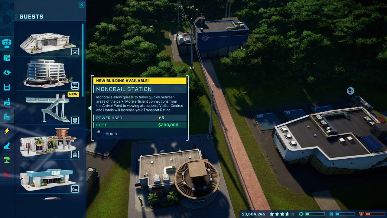 monorail station crafting jurassic world evolution