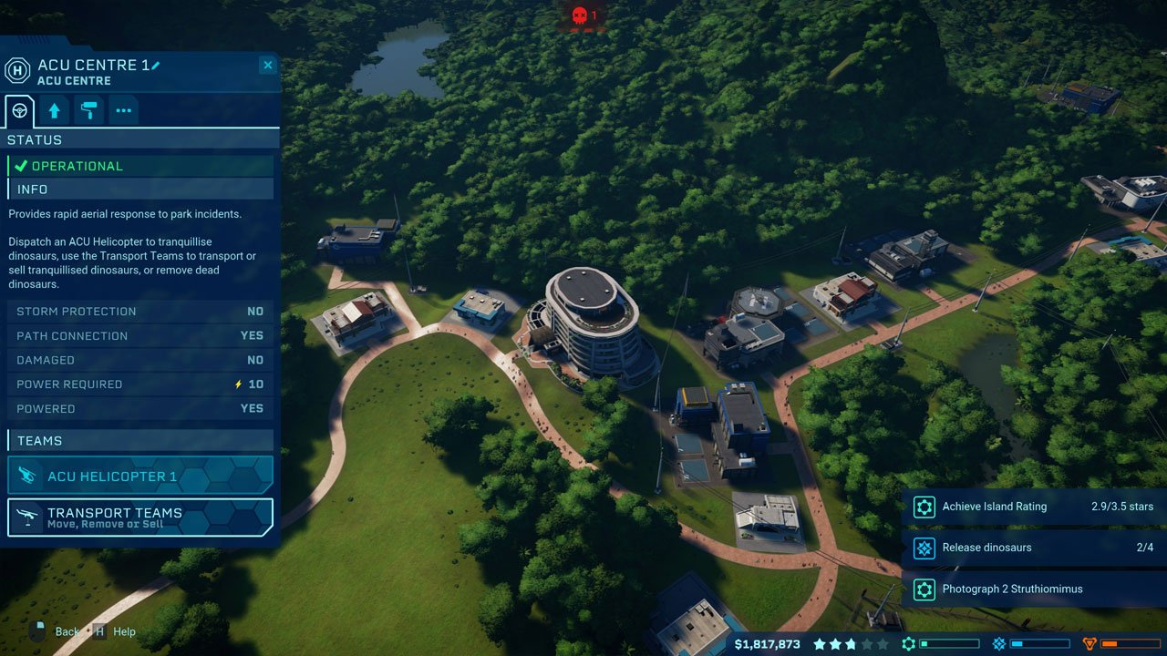 call a transport team Jurassic world evolution
