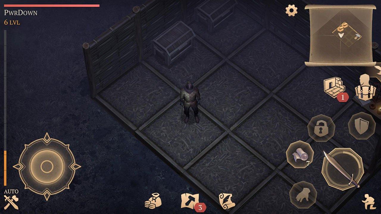 Building button under minimap grim soul