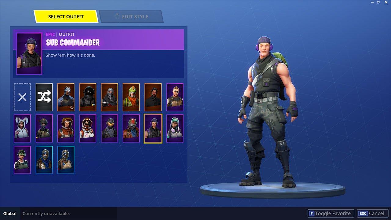 sub commander male skin