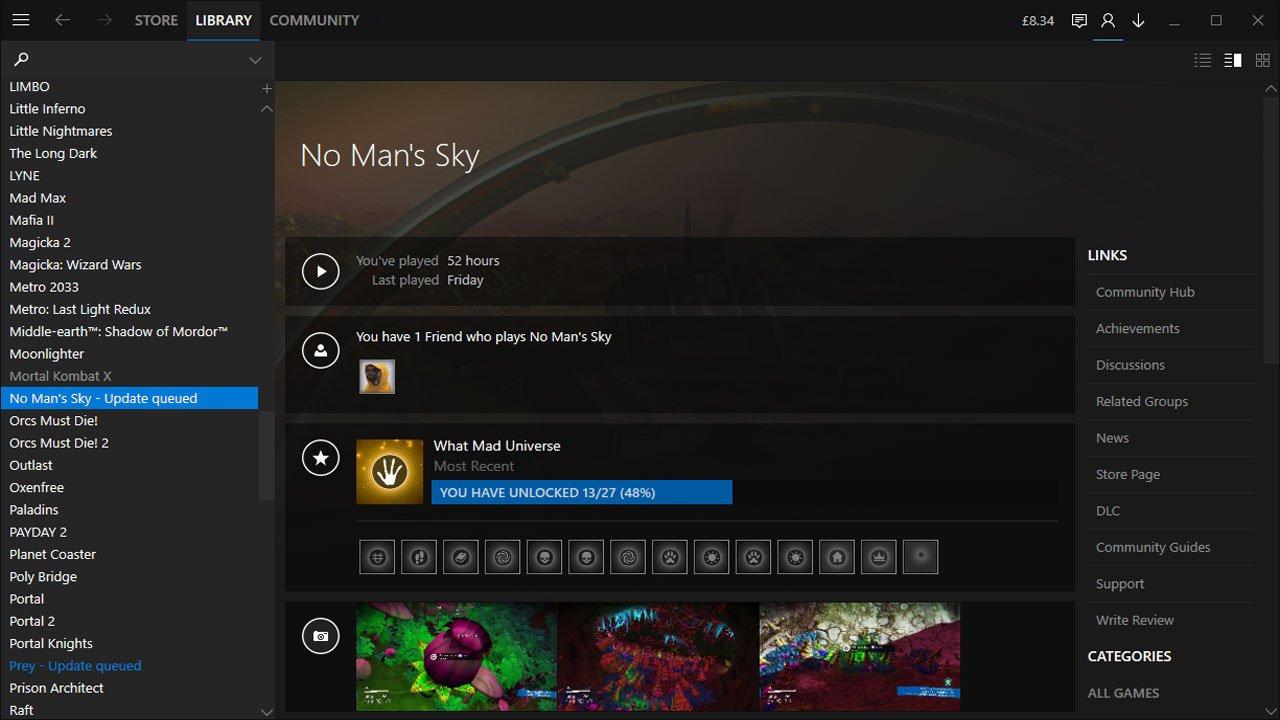 steam client find screenshots