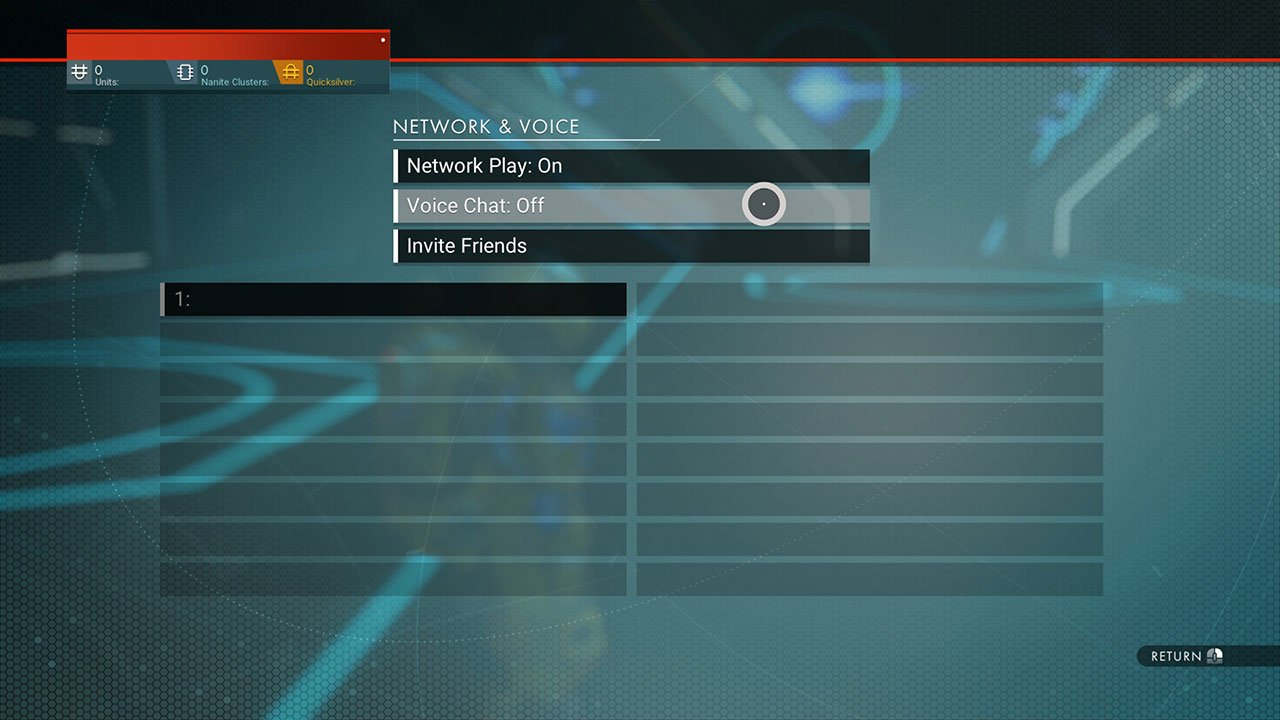 turn voice chat on or off no mans sky