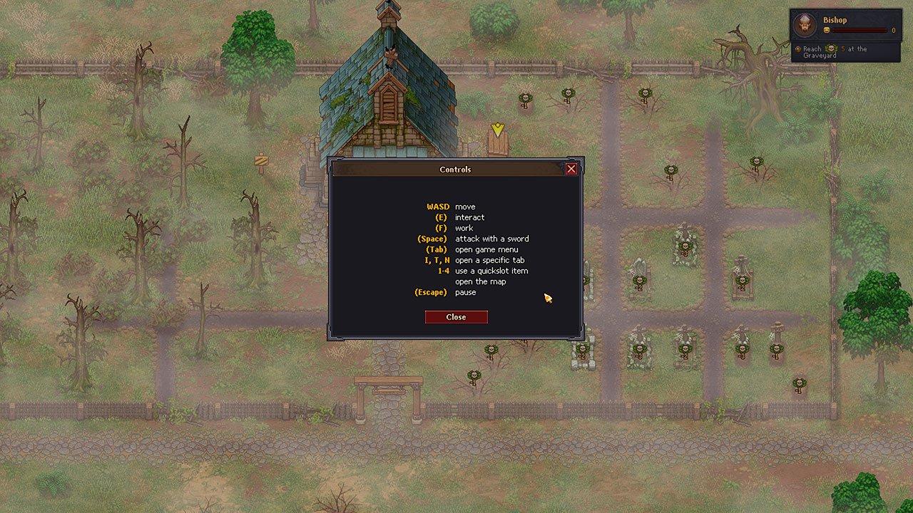 control list graveyard keeper