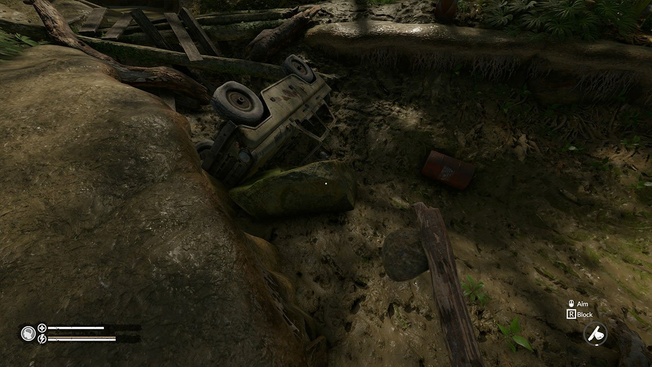 green hell crashed jeep
