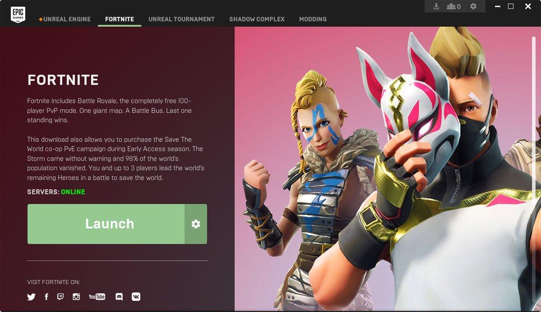 open the fortnite settings menu