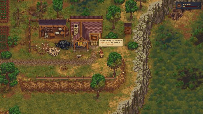 where to find the blacksmith in graveyard keeper