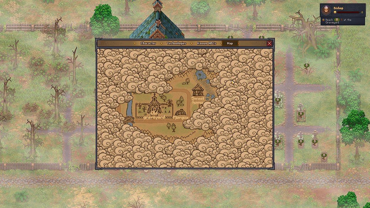 graveyard keeper map