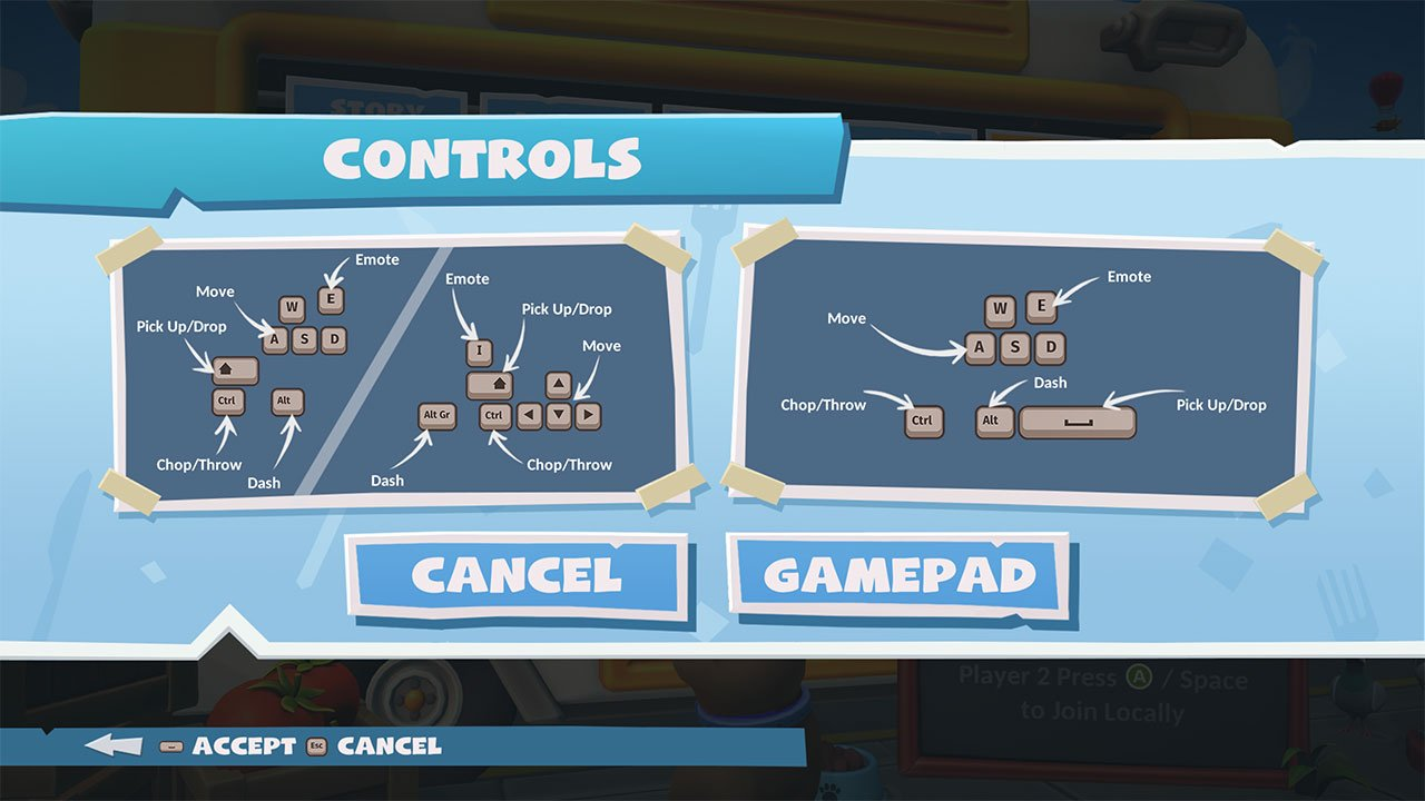 pc controls overcooked 2