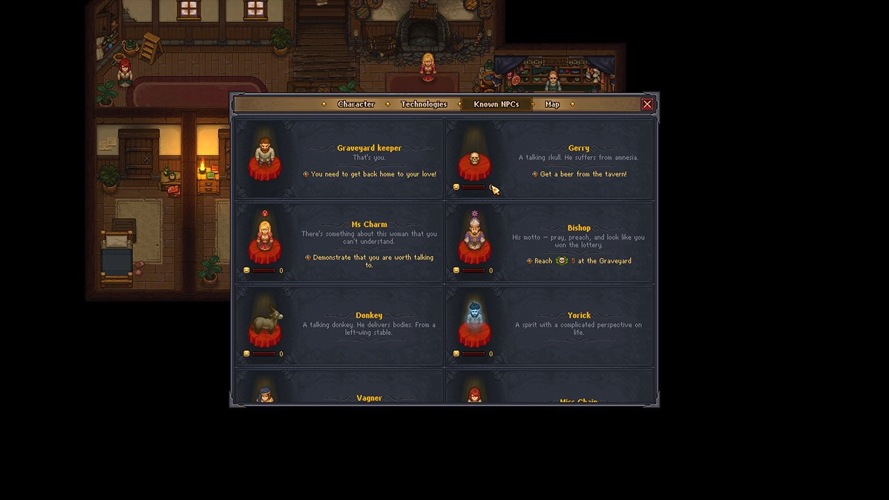 active quests graveyard keeper