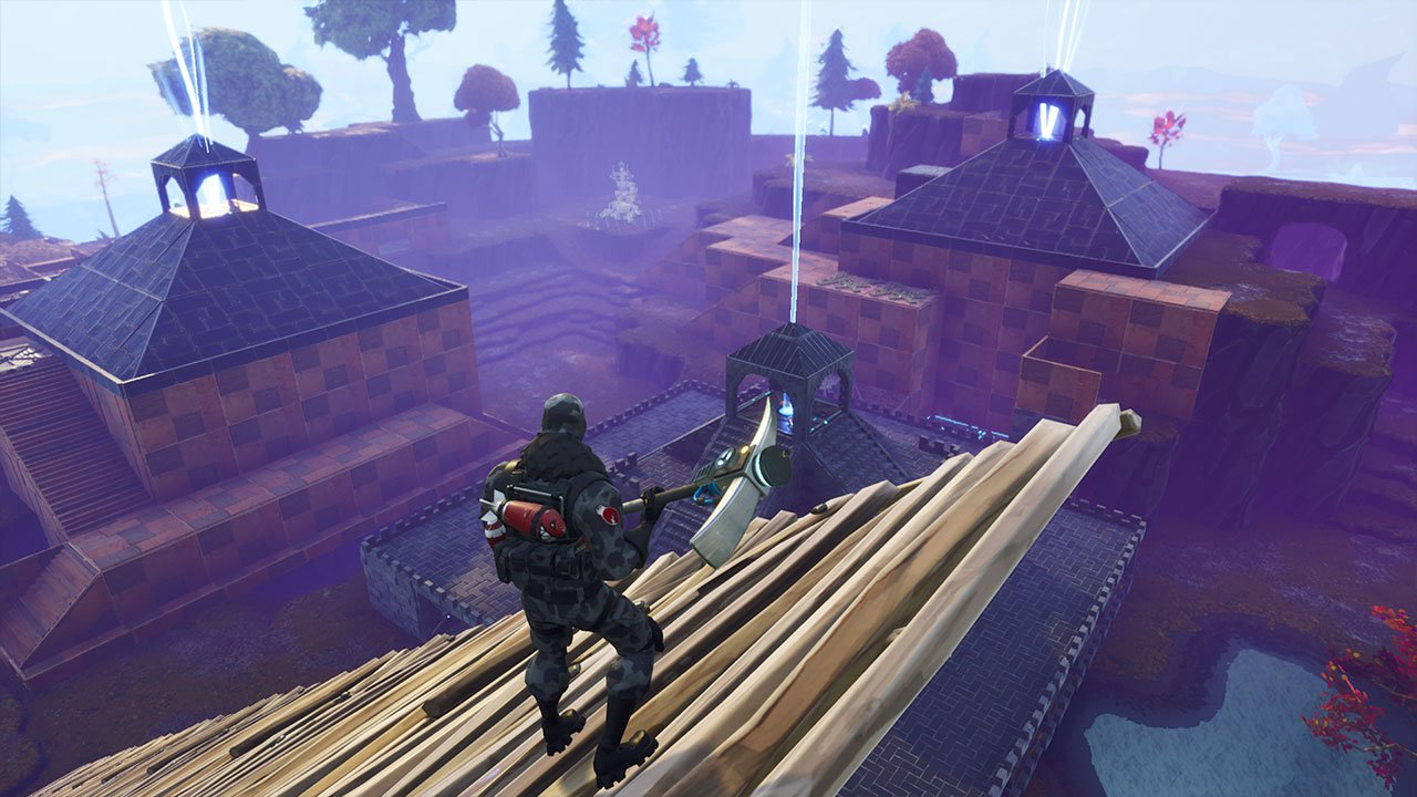 fortnite stairs sky bridge down