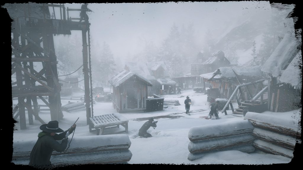 A shootout in a snow-covered outpost