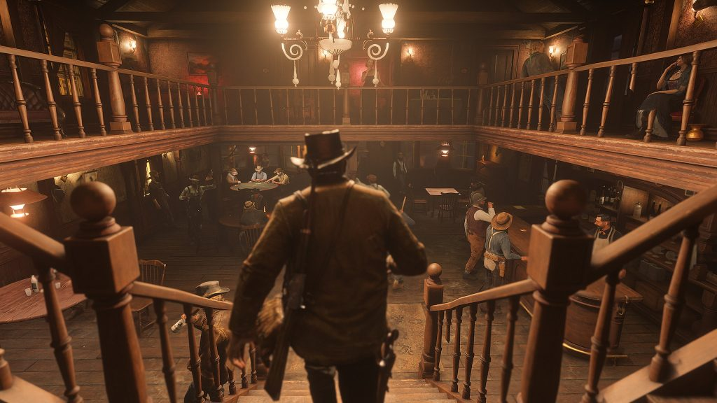 Arthur walks into a saloon