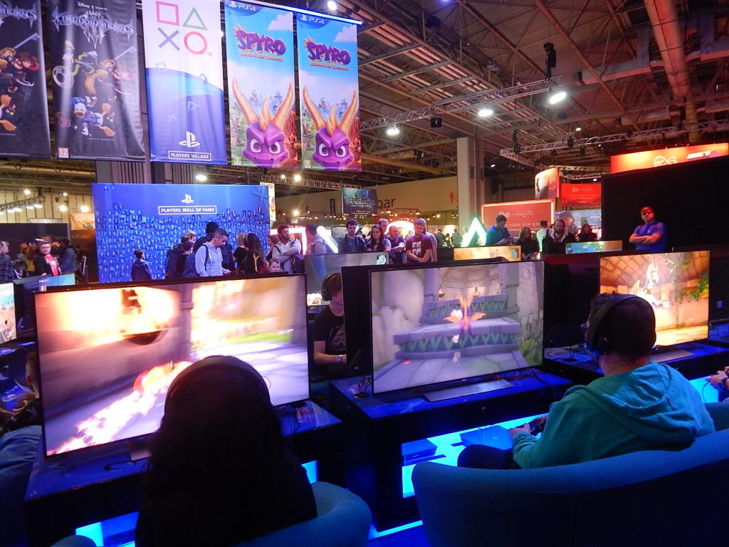 Photograph of the Spyro play area at EGX.
