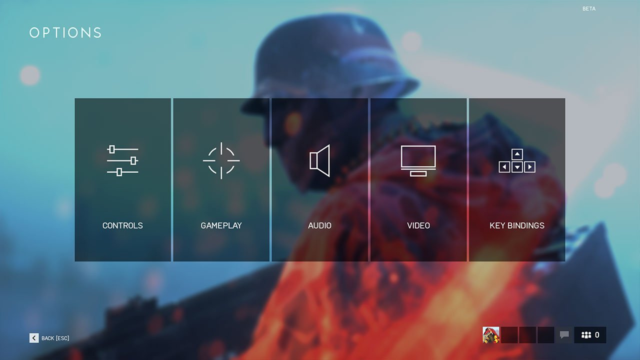 options menu battlefield